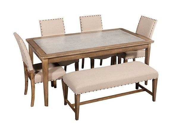 Gray Street 6-Pc. Dining Set W/ Bench | Dining Sets | Raymour And inside Jaxon 6 Piece Rectangle Dining Sets With Bench & Uph Chairs