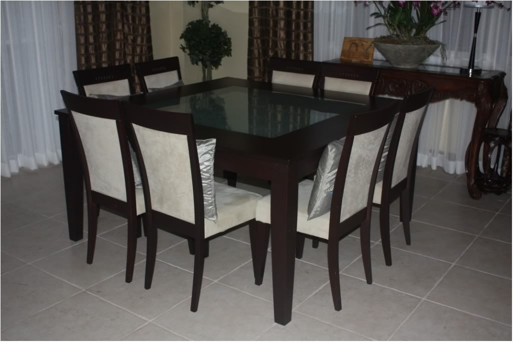 Great 6 8 Seater Glass Dining Table Black Powder Coated Legs – 8 With Regard To Black 8 Seater Dining Tables (View 25 of 25)