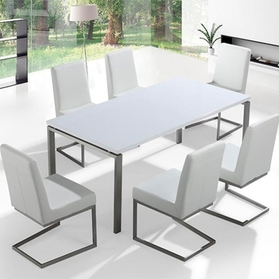 Great Deal Wade Logan Justice Ii 7 Piece Dining Set Nice Guaranteed Inside Logan 7 Piece Dining Sets (Image 8 of 25)