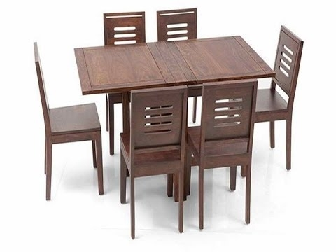 Great Ideas For Collapsible Dining Table – Youtube With Regard To Dining Tables With Fold Away Chairs (View 2 of 25)