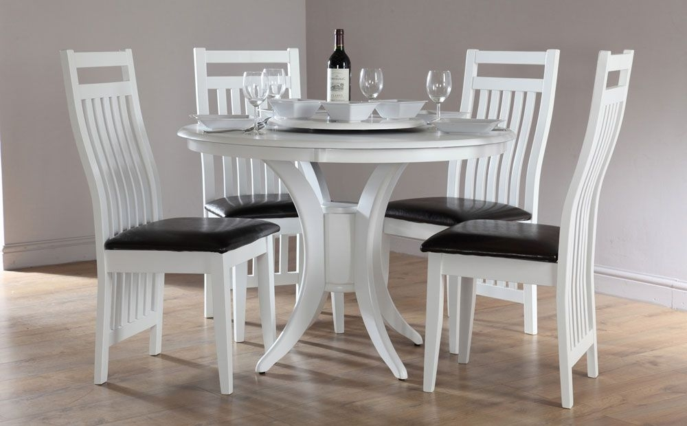 Great Round Dining Tables And Chairs Sets White Round Dining Table With White Circle Dining Tables (Photo 9 of 25)