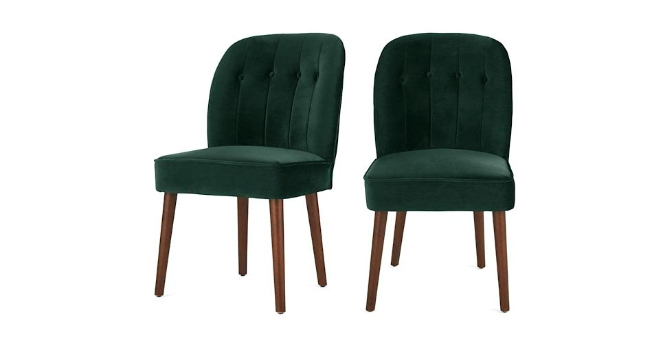Green Velvet Dining Chairs – Kechsblog With Regard To Ebay Dining Chairs (View 9 of 25)