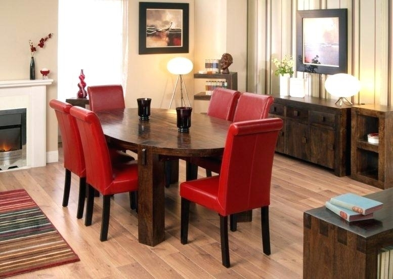 Grey And Red Dining Room Black Ribbon Red Dining Room Furniture Within Red Dining Tables And Chairs (Image 11 of 25)