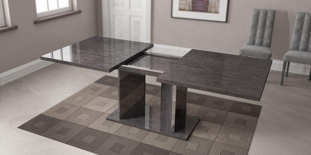 Grey Finished Dining Table Imported And Made In Italy Toledo Ohio Ahsar With Regard To Grey Dining Tables (Image 12 of 25)