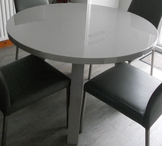 Grey Gloss Dining Table (Chairs Not Included) | In Dundee | Gumtree With Grey Gloss Dining Tables (Image 13 of 25)