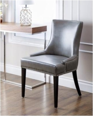 Grey Leather Dining Chairs For Furnishing The Dining Room - Home with Grey Leather Dining Chairs