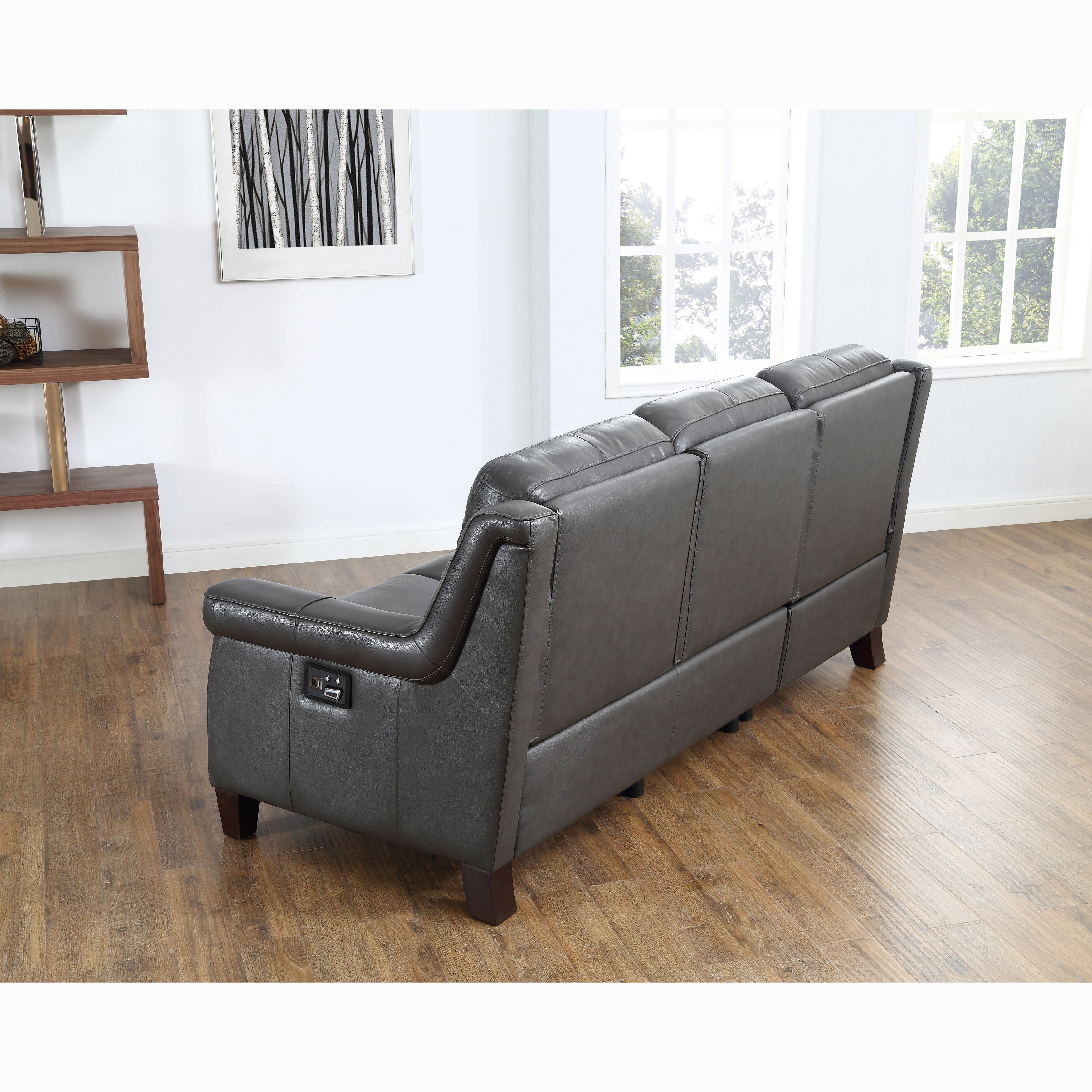 Grey Leather Power Reclining Sofa – Review Home Decor Throughout Clyde Grey Leather 3 Piece Power Reclining Sectionals With Pwr Hdrst & Usb (Image 8 of 25)