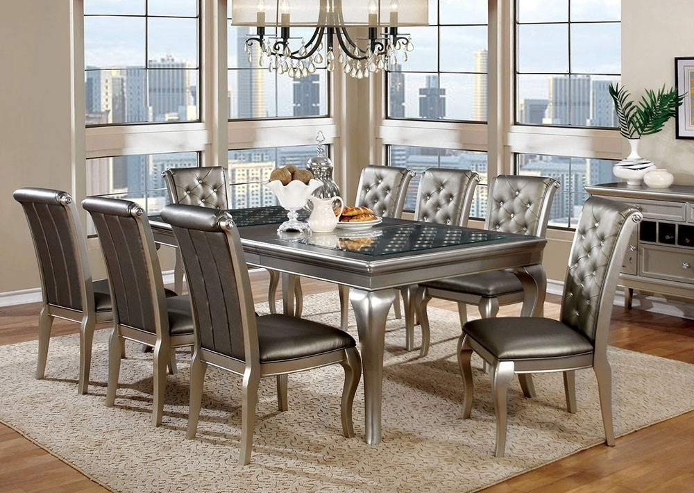 Grey Modern Dining Room Sets — Bluehawkboosters Home Design Inside Modern Dining Room Sets (View 13 of 25)