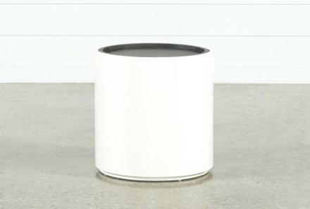 Grey Round End Table Furniture Dark Grey Table Linens – Dailygossip Inside Bale Rustic Grey Dining Tables (Image 9 of 25)