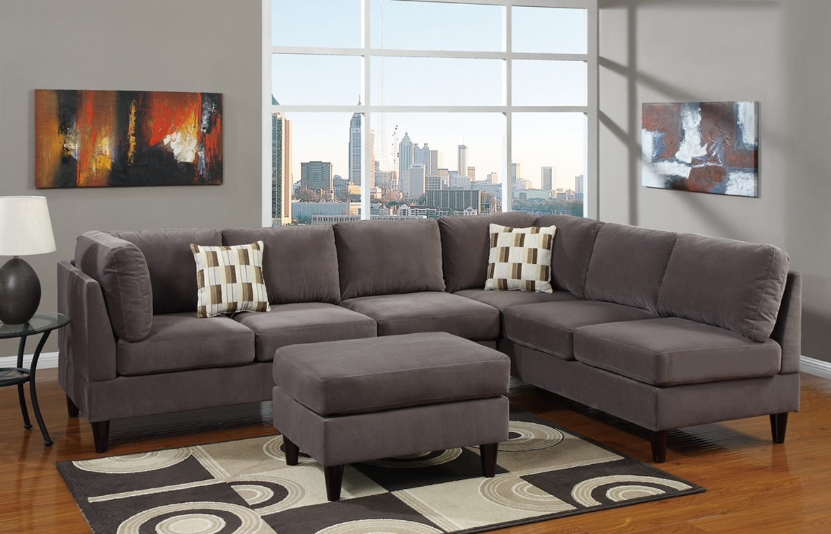 Grey Sofa Living Spaces (Image 10 of 25)