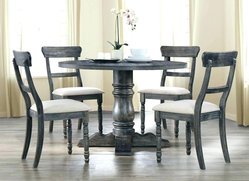 Grey Wood Round Dining Table Grey Round Table Modern Rustic Round For Helms Round Dining Tables (View 19 of 25)