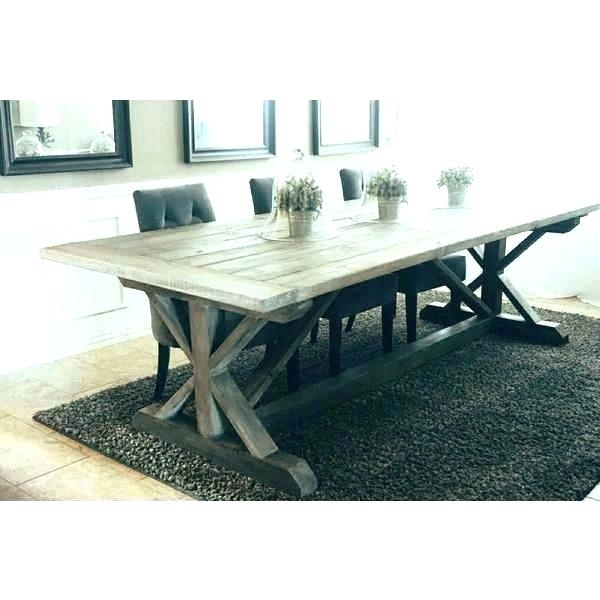 Grey Wood Round Dining Table Grey Round Table Modern Rustic Round Inside Helms Round Dining Tables (View 10 of 25)