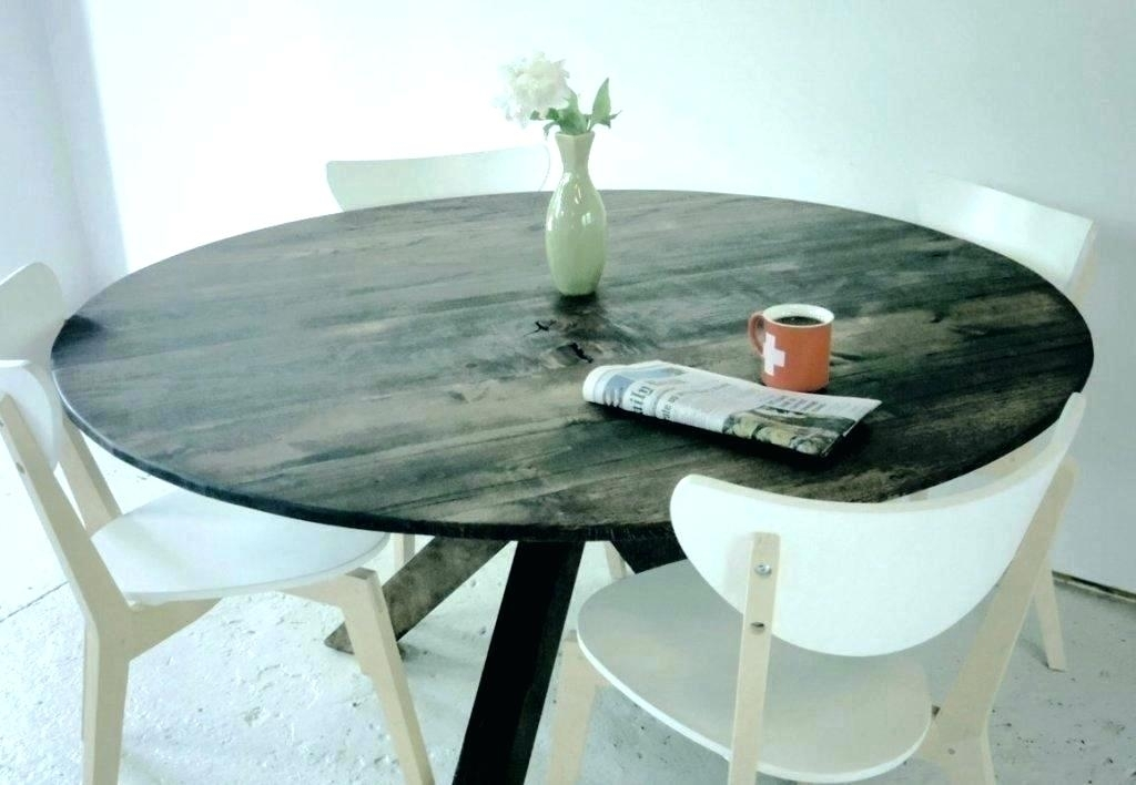Grey Wood Round Dining Table Grey Round Table Modern Rustic Round within Helms Round Dining Tables