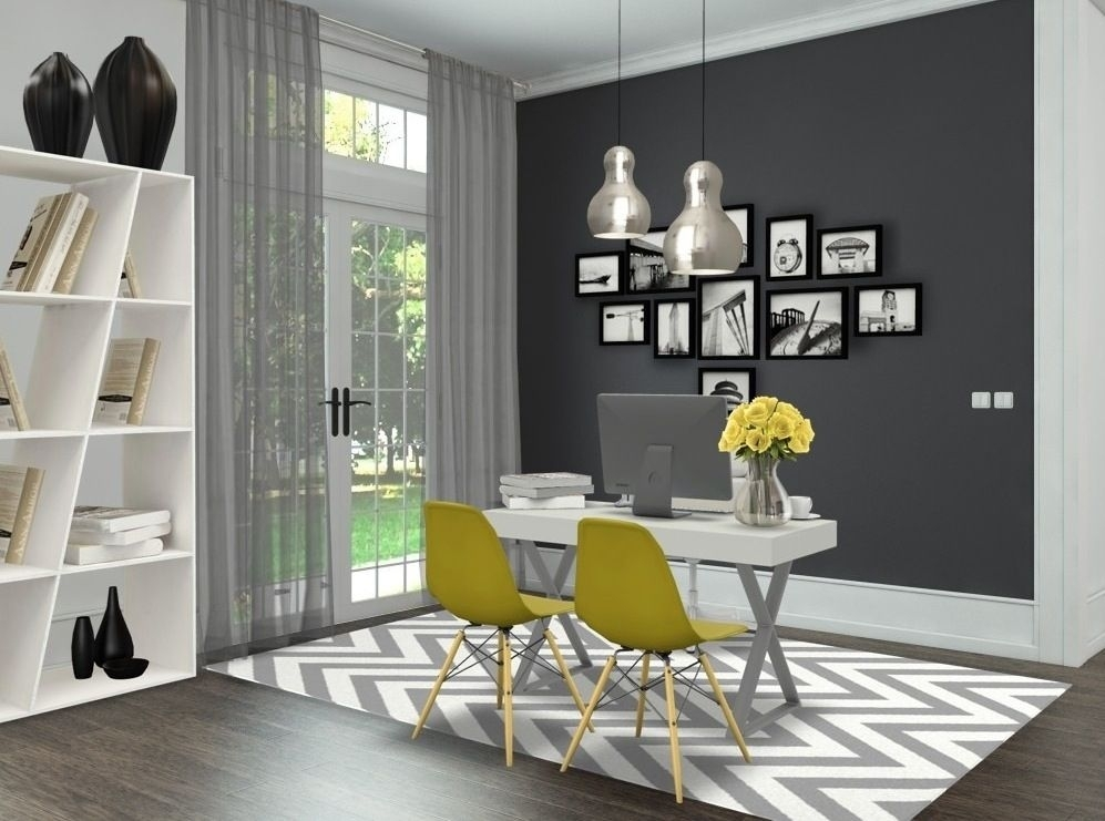 Grey & Yellow Officeandreia Alexandre Interior Styling | Home Intended For Bale Rustic Grey 6 Piece Dining Sets With Pearson Grey Side Chairs (View 9 of 25)