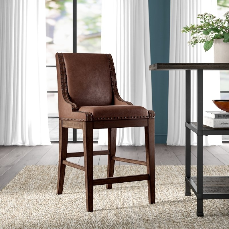 Greyleigh Cairo Upholstered Dining Chair | Wayfair for Caira Black 7 Piece Dining Sets With Upholstered Side Chairs