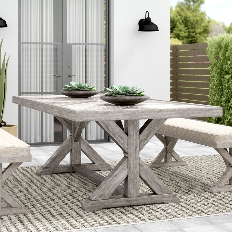 Greyleigh Farmersville Aluminum Dining Table & Reviews | Wayfair regarding Helms 5 Piece Round Dining Sets With Side Chairs