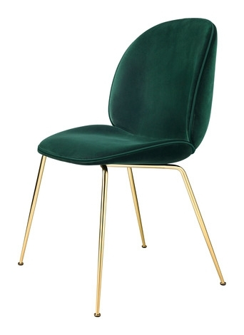 Gubi Beetle Velvet Dining Chair – 2Modern Throughout Velvet Dining Chairs (Image 12 of 25)