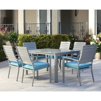 Guide To Julien 7 Piece Dining Set With Cushionwade Logan | Best throughout Logan 7 Piece Dining Sets