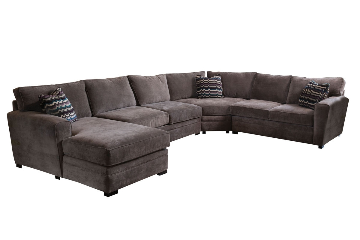 Gypsy Four Piece Left Arm Sectional At Gardner White Regarding Cosmos Grey 2 Piece Sectionals With Raf Chaise (Image 11 of 25)