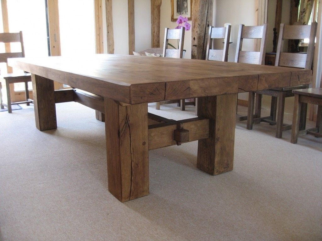 H Base Dining Table In 2018 | Furniture!! | Pinterest | Table Regarding Rustic Oak Dining Tables (Image 7 of 25)