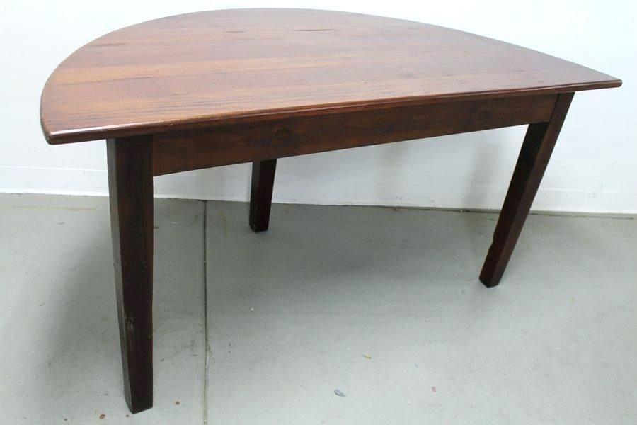 Half Moon Dining Table And Chairs Dining Table Round Rubber Wood Intended For Half Moon Dining Table Sets (Image 11 of 25)