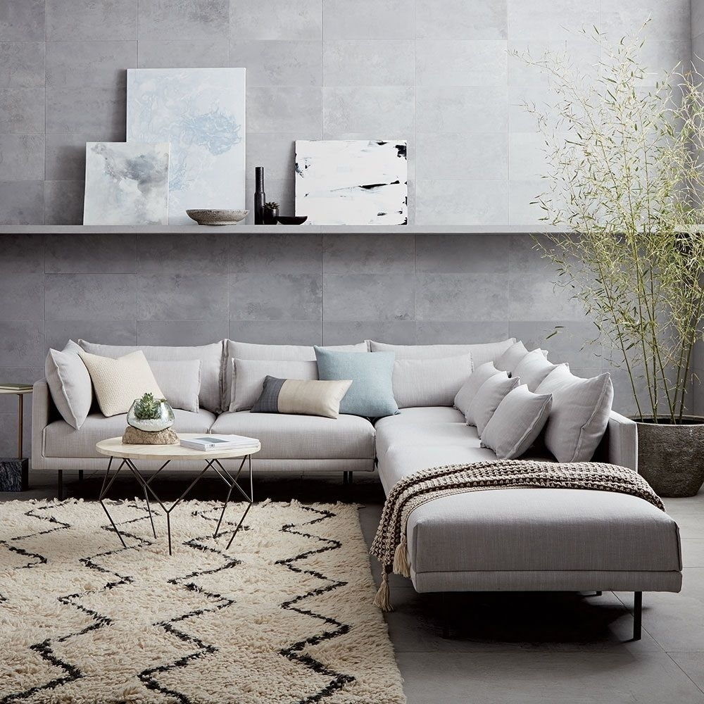 Halsey 4 Piece Sectional | West Elm Uk | For The Home (View 14 of 25)
