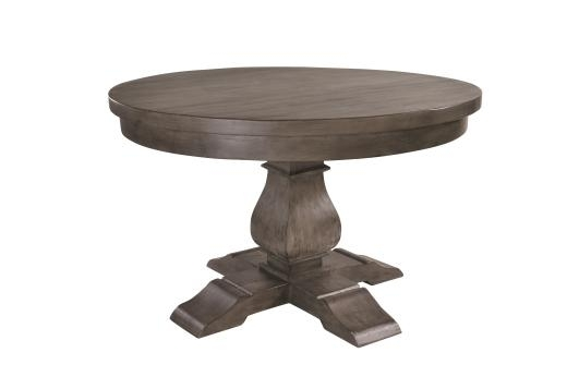Hamilton Dark Washed Hand Crafted Solid Wood Round Dining Table With Pertaining To Hamilton Dining Tables (Image 9 of 25)