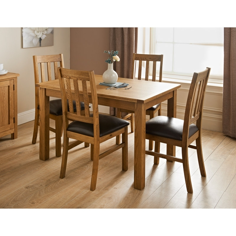 Hampshire Oak Dining Set 7Pc | Dining Furniture – B&m Within Light Oak Dining Tables And Chairs (View 17 of 25)