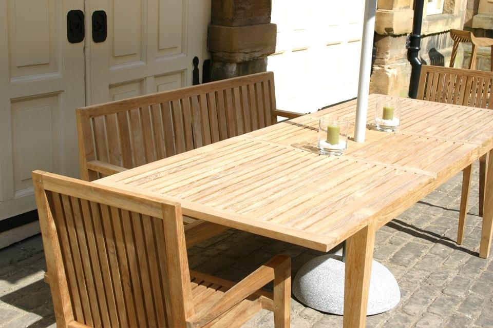 Hampstead Extending Garden Dining Table – Bau Outdoors In Extending Outdoor Dining Tables (View 7 of 25)