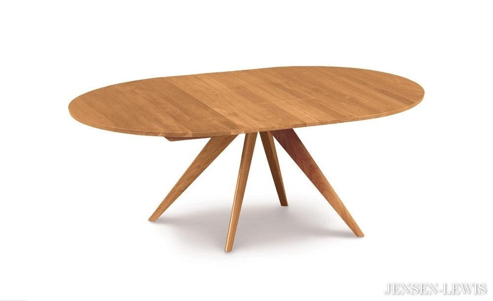 Hampstead Soft Grey And Oak Small Round Extending Dining Table Pertaining To Jaxon Round Extension Dining Tables (Image 8 of 25)