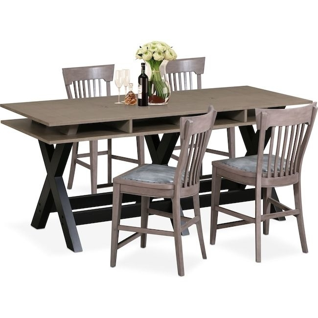 Hampton Counter Height Dining Table And 6 Upholstered Stoo In Gavin 6 Piece Dining Sets With Clint Side Chairs (View 23 of 25)