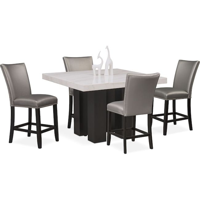 Hampton Counter Height Dining Table And 6 Upholstered Stoo Pertaining To Gavin 6 Piece Dining Sets With Clint Side Chairs (View 13 of 25)
