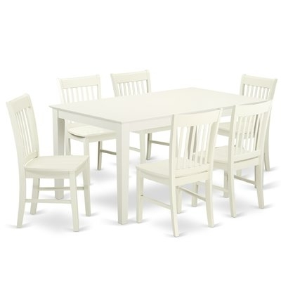 Hampton Counter-Height Dining Table And 6 Upholstered Stoo pertaining to Gavin 7 Piece Dining Sets With Clint Side Chairs
