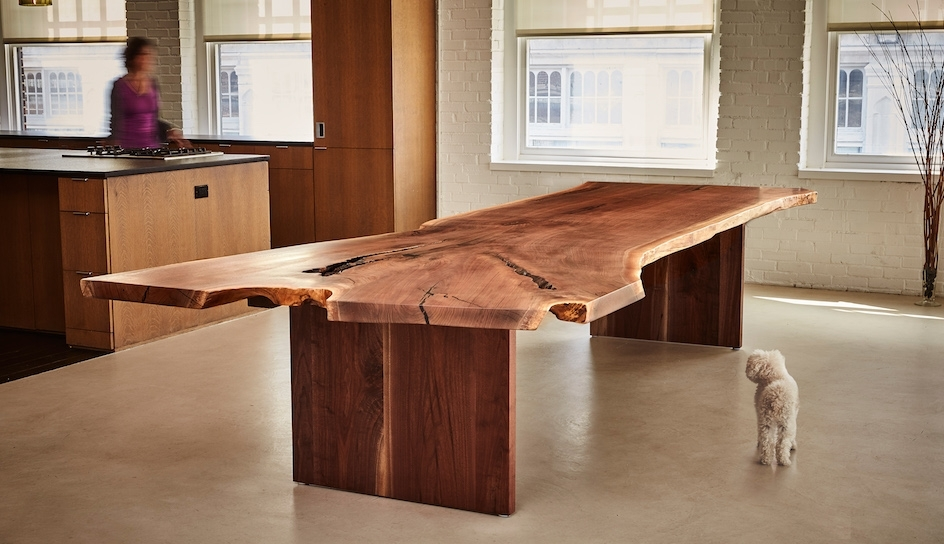 Handcrafted Custom Walnut Dining Tables | David Stine Furniture Throughout Walnut Dining Tables (View 11 of 25)