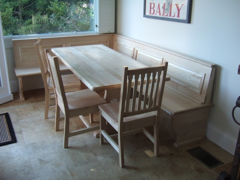 Handcrafted Kitchen Nook Tables From Erik Organic intended for Mayfair Dining Tables