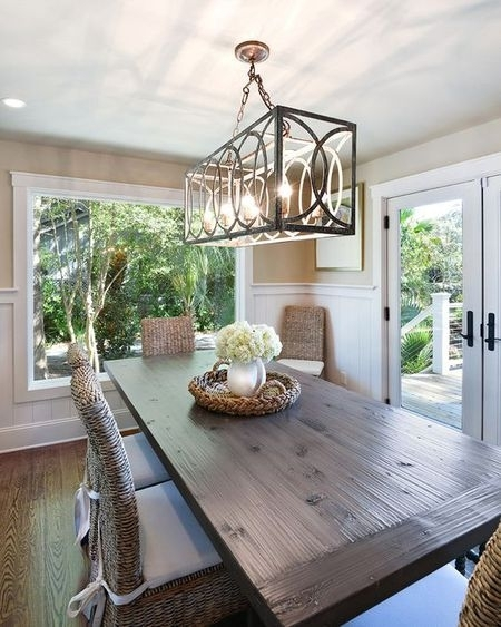Hanging A Dining Room Chandelier At The Perfect Height Intended For Lights For Dining Tables (Image 14 of 25)