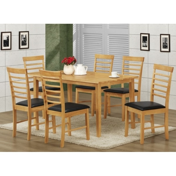 Hanover Dining Table And Six Chairs In Light Oak – Norman's Furniture In Light Oak Dining Tables And 6 Chairs (View 11 of 25)