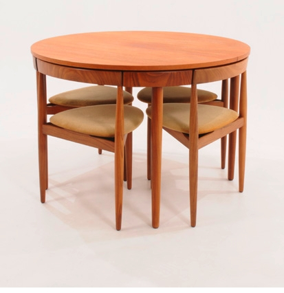 Hans Olsen Compact Dining Table & Chairs | Compact Dining Tables In In Compact Dining Tables (Image 17 of 25)