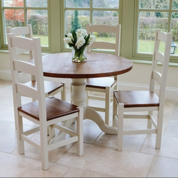 """Hardwick 3Ft 6"""" Round Rustic Dining Table From Curiosity Interiors With 3Ft Dining Tables (View 17 of 25)"""