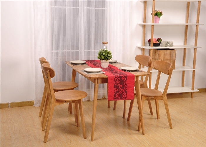 Hardwood Oak Dining Table And Chairs , High Standard Rectangle Intended For Parquet 6 Piece Dining Sets (Image 11 of 25)