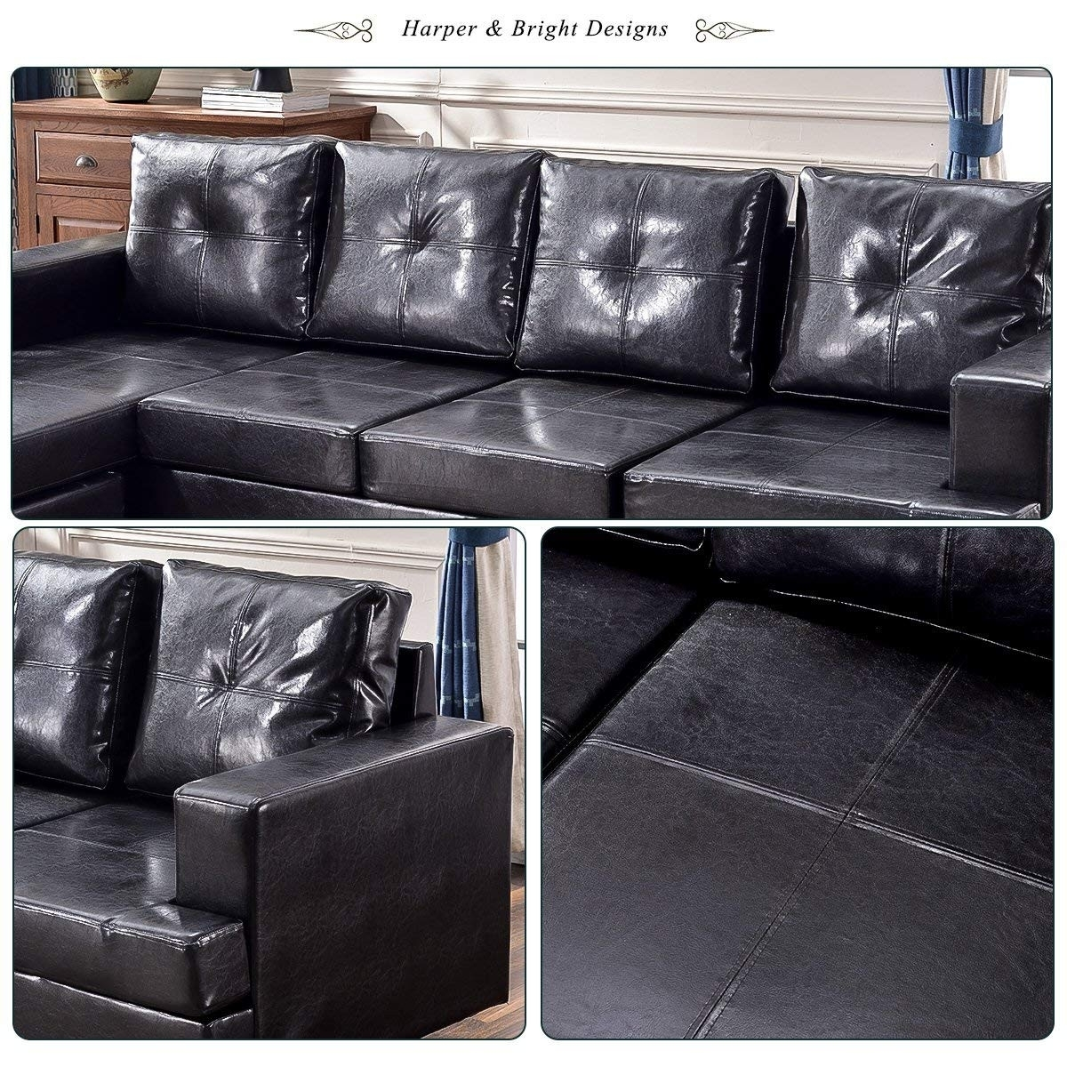 Harper Bright Designs Sectional Recliner Sofa Set | Baci Living Room Pertaining To Harper Down 3 Piece Sectionals (View 25 of 25)