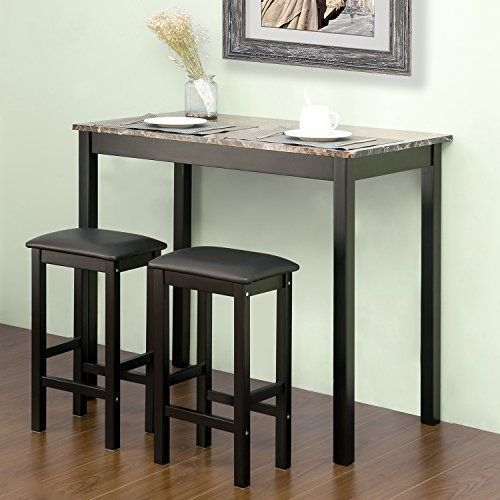 Harper & Bright Designsmerax 3 Piece Pub Table Set, T Https For Harper 5 Piece Counter Sets (Image 8 of 25)