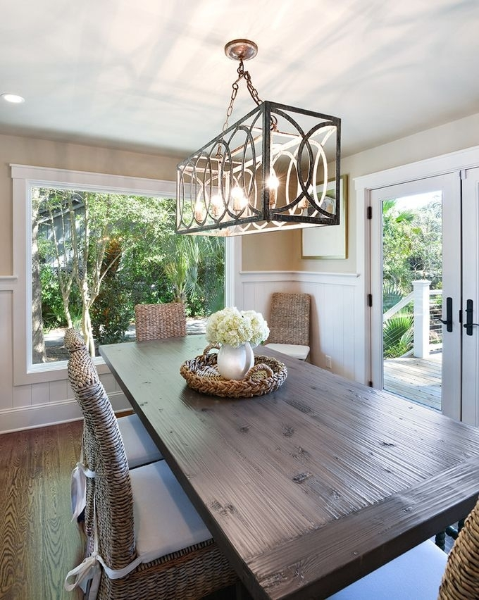 Harper Construction | Dining Rooms | Pinterest | Dining Room, Dining Throughout Lights Over Dining Tables (Image 14 of 25)