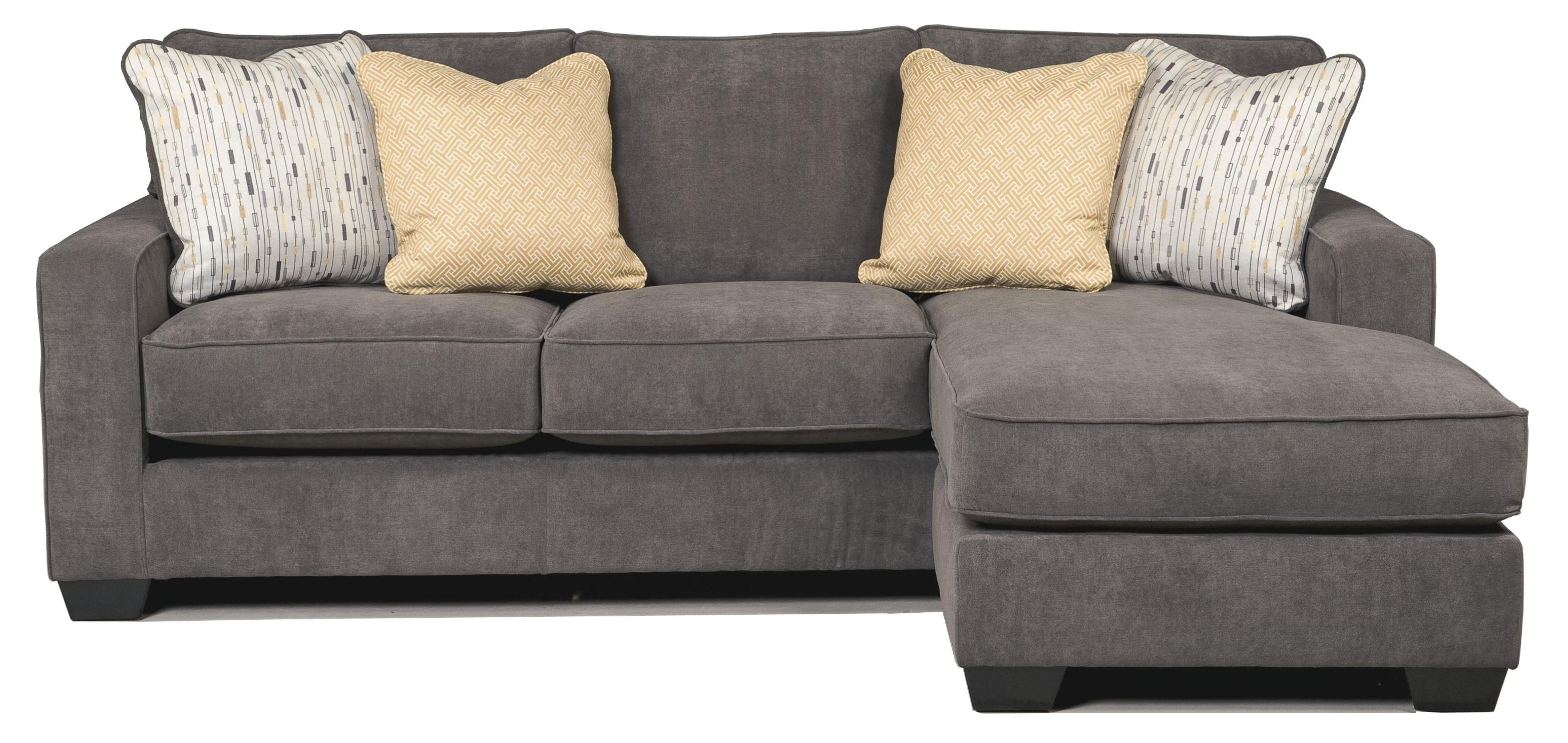 Harper Contemporary Sofa Chaise With Track Arms & Left Or Right Pertaining To Harper Foam 3 Piece Sectionals With Raf Chaise (Image 5 of 25)