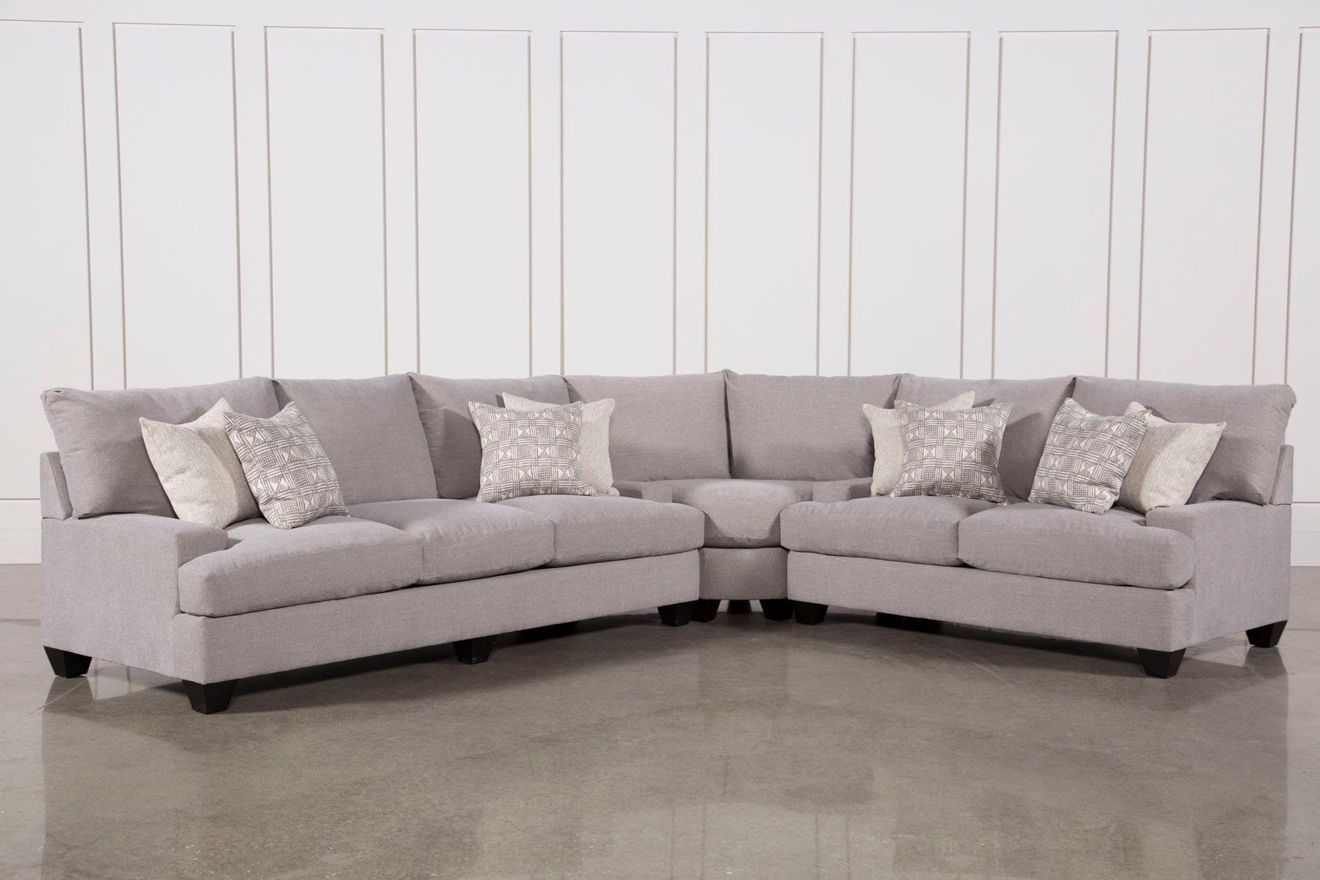 Harper Down 3 Piece Sectional | Livingroom Media | Pinterest With Regard To Adeline 3 Piece Sectionals (View 3 of 25)