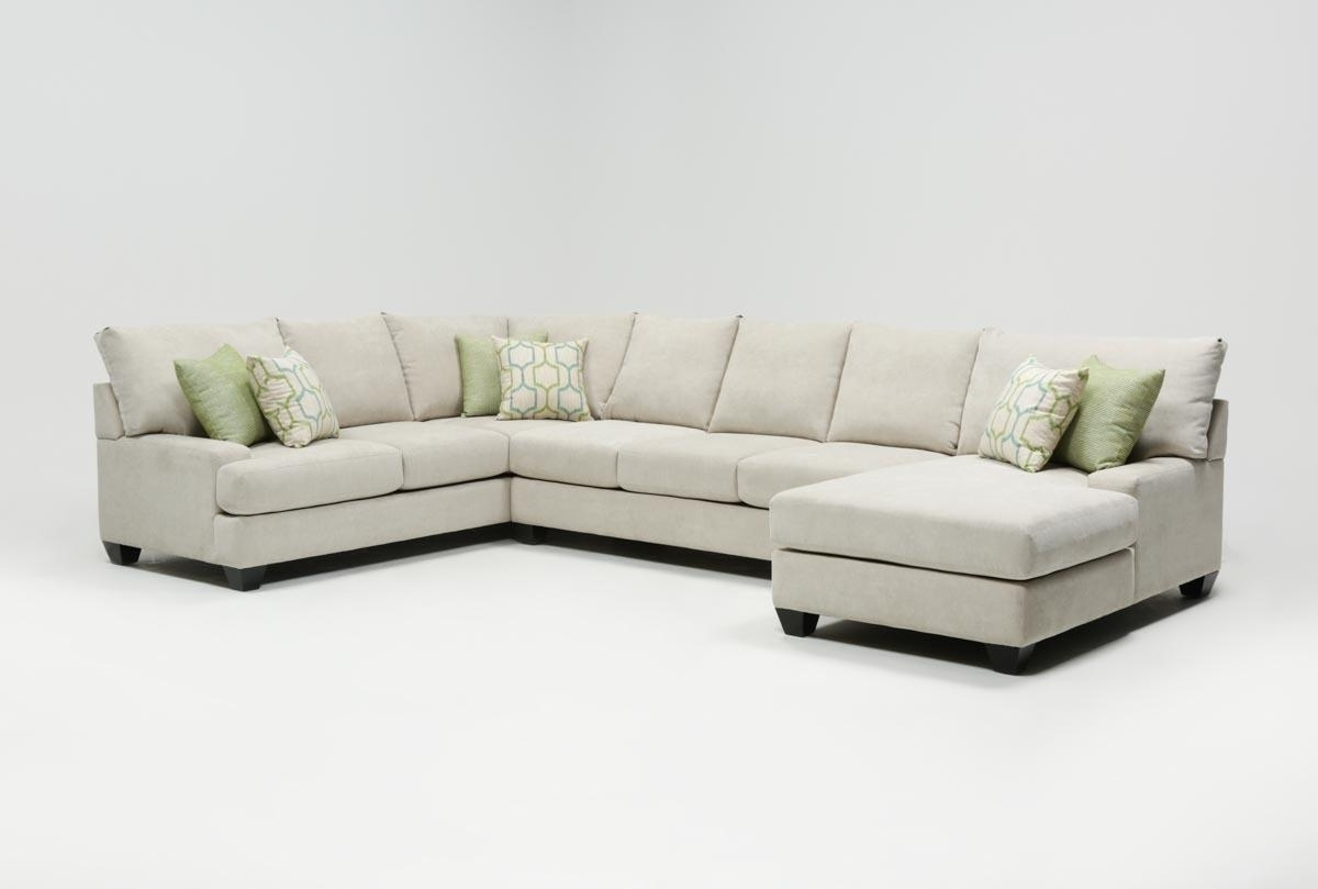 Harper Foam 3 Piece Sectional W/raf Chaise | Living Spaces With Malbry Point 3 Piece Sectionals With Raf Chaise (Image 15 of 25)