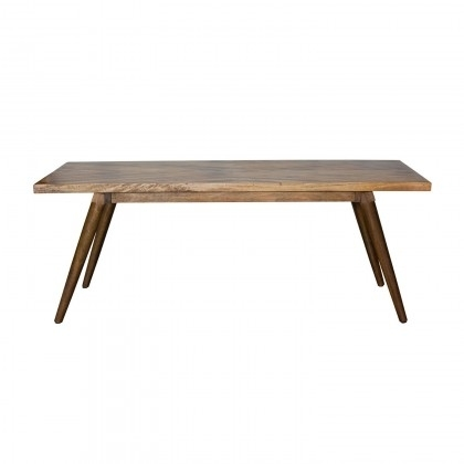 Hart Dining Table - Large/iron & Mango Wood/light Honey Finish/72*38 intended for Mango Wood/iron Dining Tables