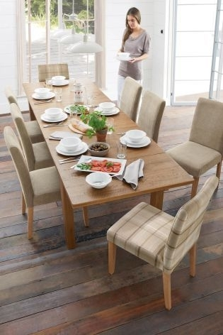 Hartford® 6 10 Seater Large Extending Dining Table From Next For 10 Seater Dining Tables And Chairs (View 17 of 25)