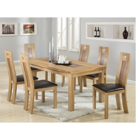 Harvard Solidoak Dining Table + 6 Chairs – Forever Furnishings For Solid Oak Dining Tables And 6 Chairs (View 9 of 25)