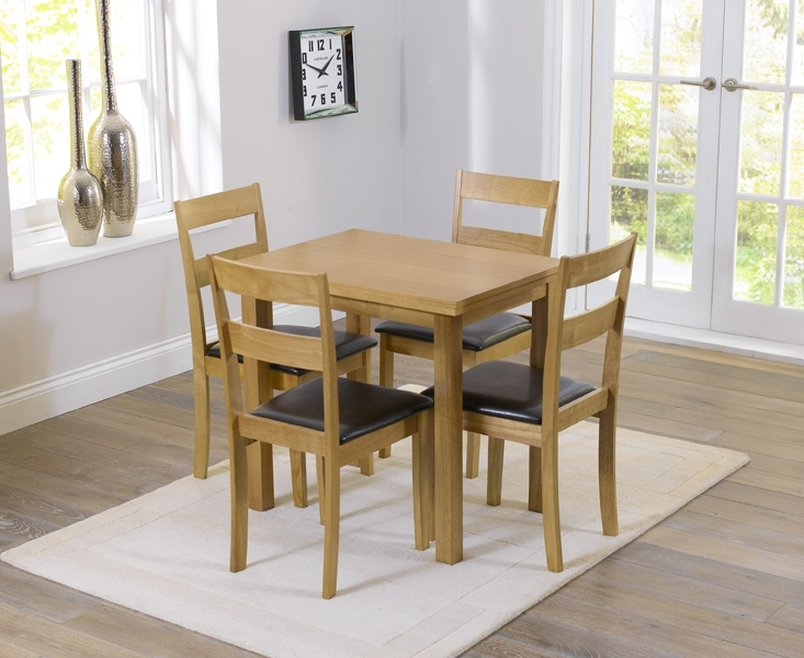Hastings 60Cm Extending Dining Table And Chairs Regarding Extending Solid Oak Dining Tables (Image 12 of 25)